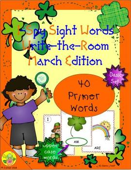 I-Spy Sight Words Word Work - Primer Words (March Edition) Basic