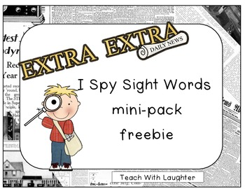I Spy Sight Words (mini-pack FREEBIE)