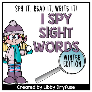 I Spy Sight Words {Winter}