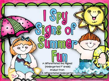 I Spy Signs of Summer-Differentiated and Aligned to K/1st Word Work