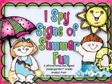 I Spy Signs of Summer-Differentiated and Aligned to K/1st