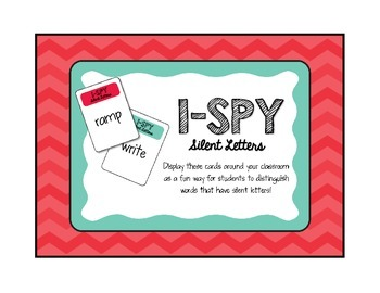 I Spy Silent Letters Activity