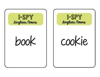 I Spy Singular Nouns Activity