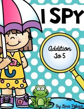 Addition To 5 Math Station: I Spy