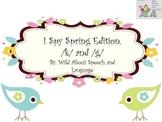 I Spy Spring Edition /k/ and /g/ FREEBIE!