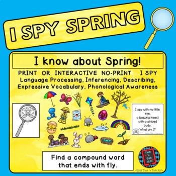 I Spy Spring - Mixed Groups (Language Processing & Phonological Awareness)