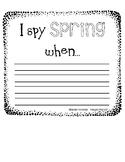 I Spy Spring When...