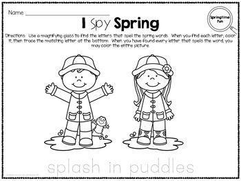 I Spy - Spring Words