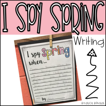 I Spy Spring Writing Prompt Freebie