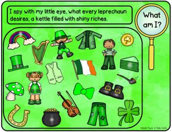 I Spy St Patrick's - Mixed Groups (Language Processing & Phonological Awareness)