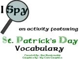 I Spy St. Patrick's Day Vocabulary