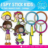 I Spy Stick Kids - Clipart for Teaching