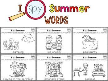 I Spy - Summer Words