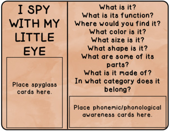 I Spy Thanksgiving - Mixed Groups (Language Processing & Phonological Awareness)