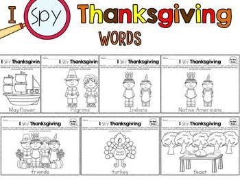 I Spy - Thanksgiving Words