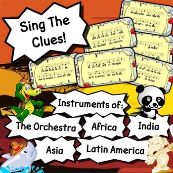 The Orchestra & World Instruments - Worksheets, Tests, Reviews, Homework & More!