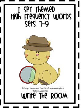 I Spy Themed High Frequency Words Sets 7-9 Write the Room