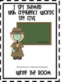 I Spy Themed High Frequency Words Write the Room Set Five