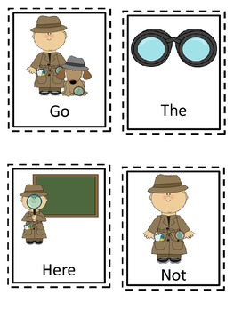 I Spy Themed High Frequency Words Write the Room Set One