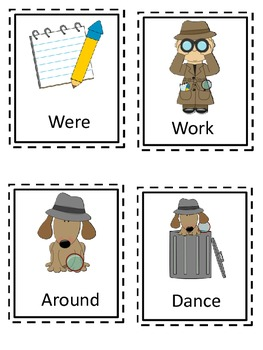 I Spy Themed High Frequency Words Write the Room Set Seven