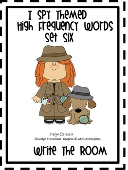 I Spy Themed High Frequency Words Write the Room Set Six