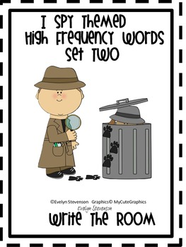 I Spy Themed High Frequency Words Write the Room Set Two