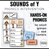 Sounds of Y Phonics Centers