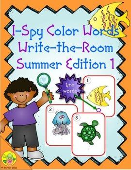 I-Spy Tiny Color Words (Summer Edition) Set 1