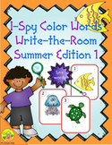 I-Spy Tiny Color Words (Summer Edition) Set 1