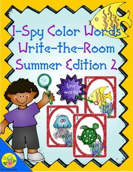 I-Spy Tiny Color Words (Summer Edition) Set 2