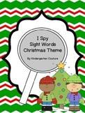 I See Tiny Sight Words Christmas Theme