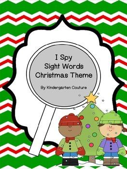 I Spy Tiny Sight Words Christmas Theme