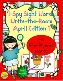 I-Spy Tiny Sight Words - PrePrimer Words (April Edition) Set 1