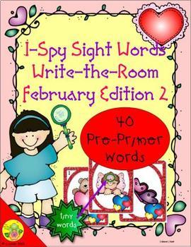 I-Spy Tiny Sight Words - PrePrimer Words (February Edition) Set 2