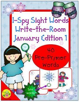 I-Spy Tiny Sight Words - PrePrimer Words (January Edition) Set 1