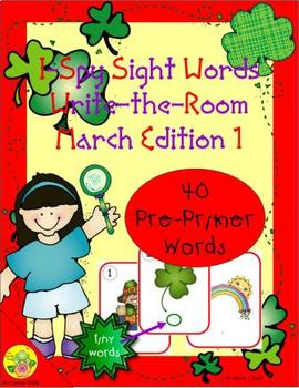 I-Spy Tiny Sight Words - PrePrimer Words (March Edition) Set 1