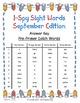 I-Spy Tiny Sight Words - PrePrimer Words (Sept. Edition) Set 2