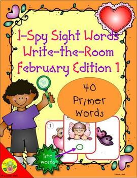 I-Spy Tiny Sight Words - Primer Words (February Edition) Set 1