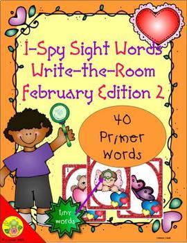 I-Spy Tiny Sight Words - Primer Words (February Edition) Set 2