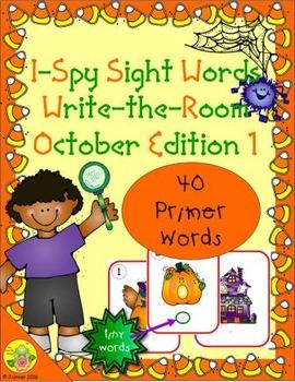 I-Spy Tiny Sight Words - Primer Words (October Edition) Set 1