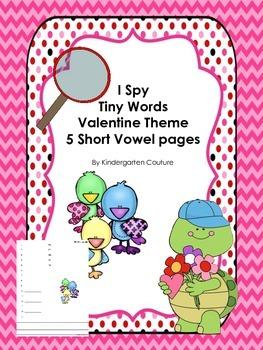 I See Tiny Words Valentine Theme   Short Vowel Words