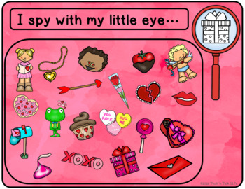I Spy Valentines - Mixed Groups (Language Processing & Phonological Awareness)