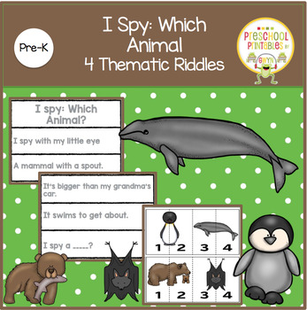 I Spy:  Which Animal?  4 Thematic Riddles