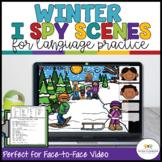 I Spy Winter Language Activity Scenes for Classroom and Di