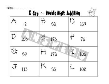 I Spy Winter Math Activities
