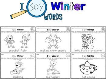 I Spy - Winter Words