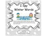 I Spy Winter Words