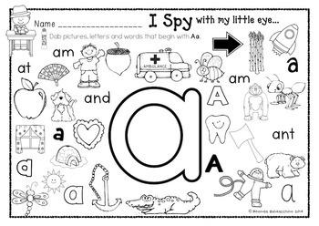 I Spy With My Little Eye  ALPHABET DAB