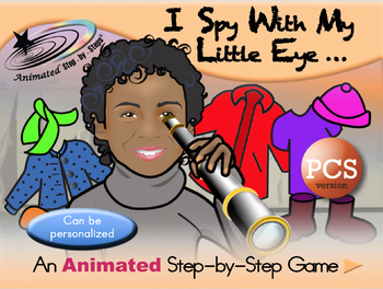 I Spy With My Little Eye - Animated Step-by-Step Game PCS Symbols