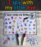 I Spy With My Little Eye - Board game Template